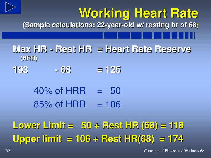Max HR - Rest HR= Heart Rate Reserve