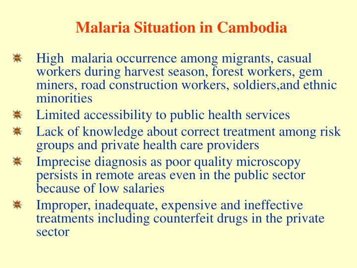 Malaria Situation in Cambodia