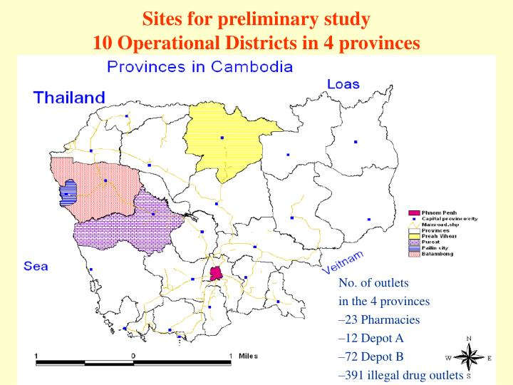 Sites for preliminary study