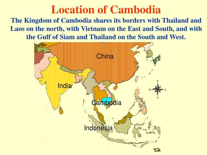 Location of Cambodia