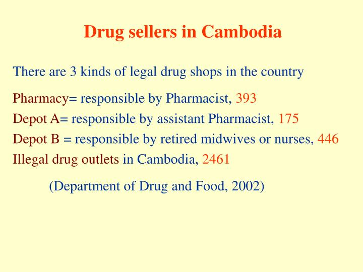 Drug sellers in Cambodia