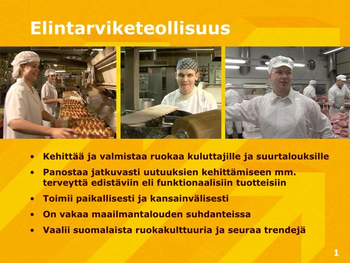 Elintarviketeollisuus