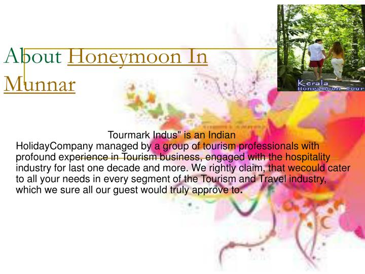 About honeymoon in munnar