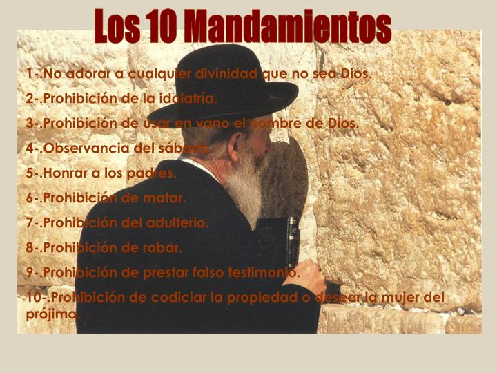Los 10 Mandamientos