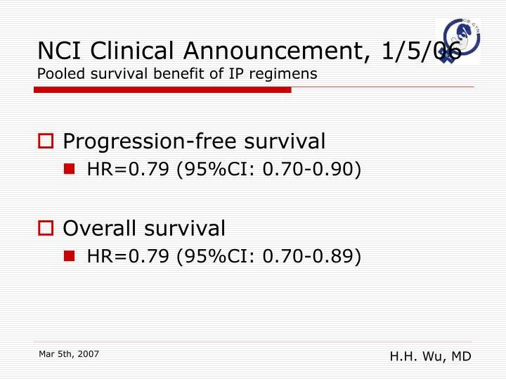 NCI Clinical Announcement, 1/5/06