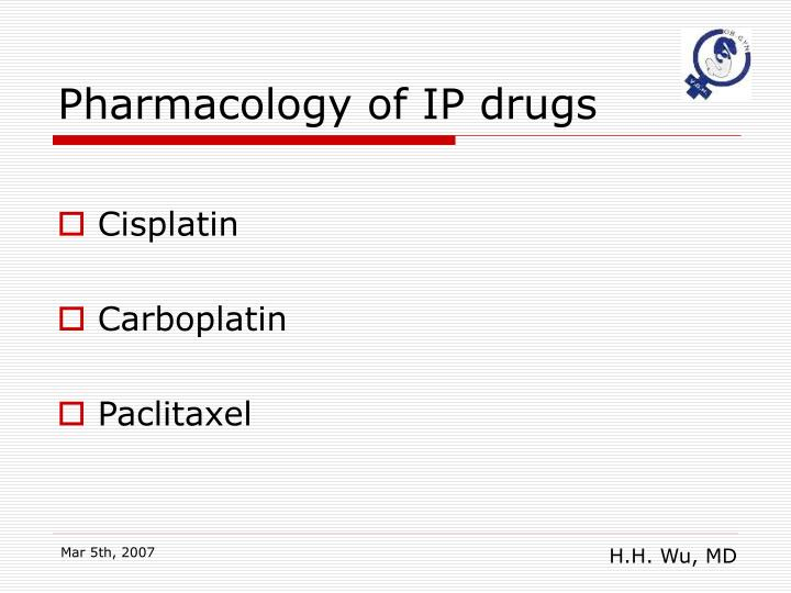 Pharmacology of IP drugs