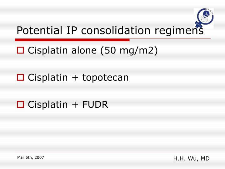 Potential IP consolidation regimens