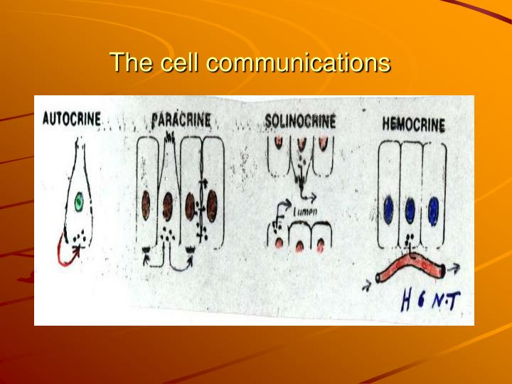 The cell communications