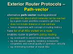 exterior router protocols path vector