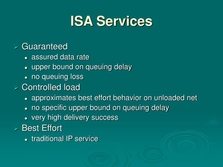 ISA Services