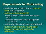 requirements for multicasting1