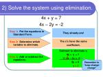 2 solve the system using elimination