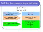 3 solve the system using elimination