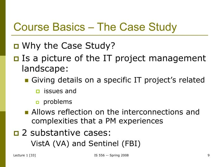 Course Basics – The Case Study