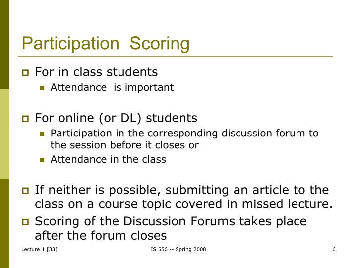 Participation  Scoring