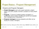 project basics program management