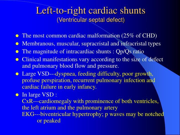 Left-to-right cardiac shunts