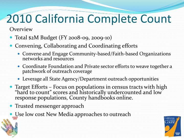 2010 California Complete Count