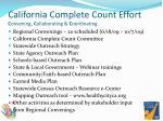 california complete count effort c onvening c ollaborating c oordinating