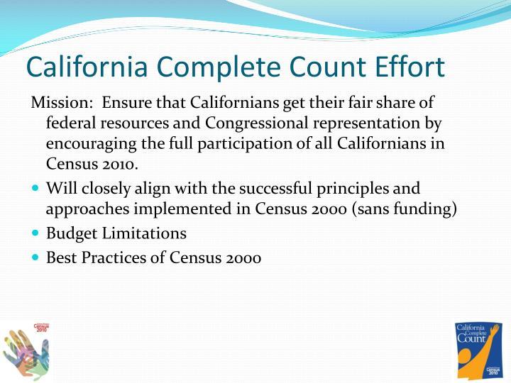 California Complete Count Effort