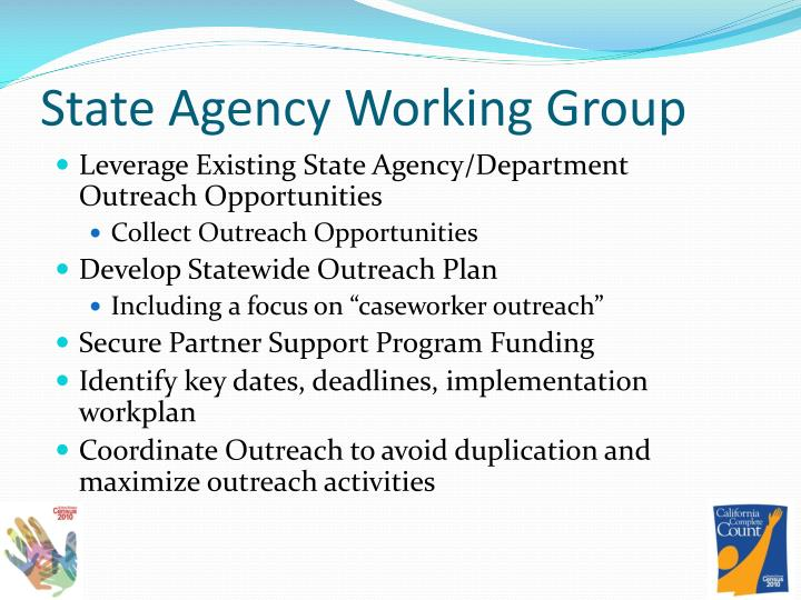 State Agency Working Group