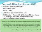 successful results census 2000