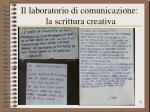 il laboratorio di comunicazione la scrittura creativa