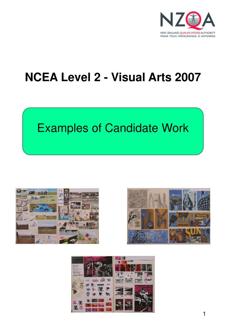 Ncea level 2 visual arts 2007