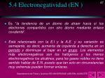 5 4 electronegatividad en