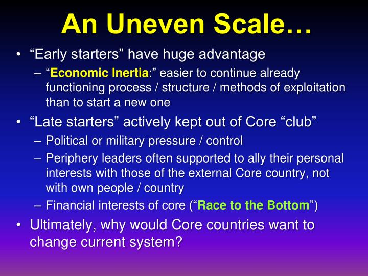 An Uneven Scale…