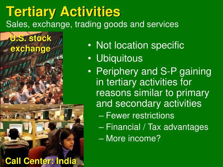 Tertiary Activities