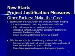 new starts project justification measures9