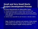 small and very small starts project development process3