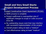 small and very small starts project development process5
