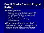 small starts overall project rating2