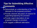 tips for submitting effective comments