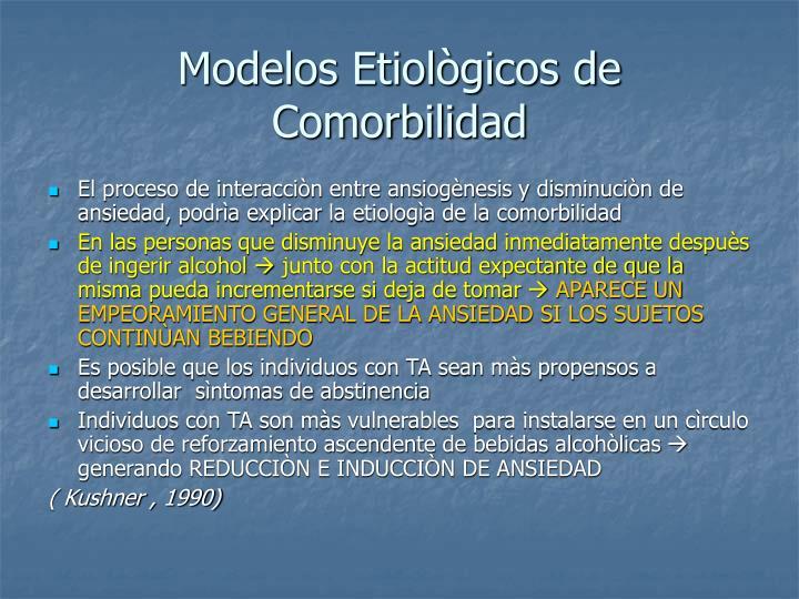 Modelos Etiològicos de Comorbilidad