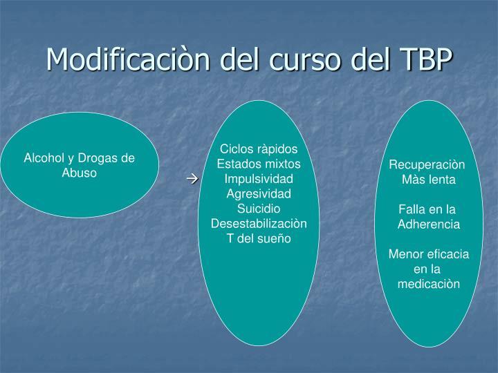 Modificaciòn del curso del TBP