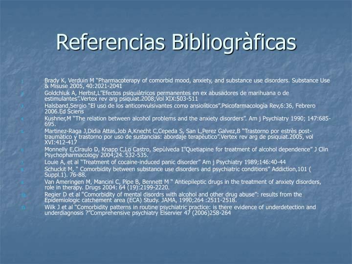 Referencias Bibliogràficas