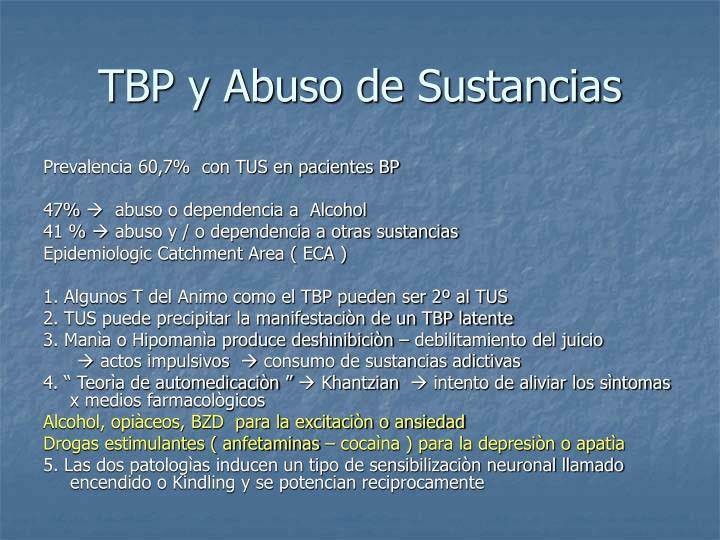 TBP y Abuso de Sustancias