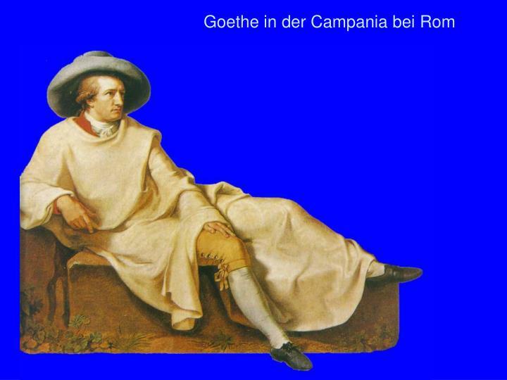 Goethe in der Campania bei Rom