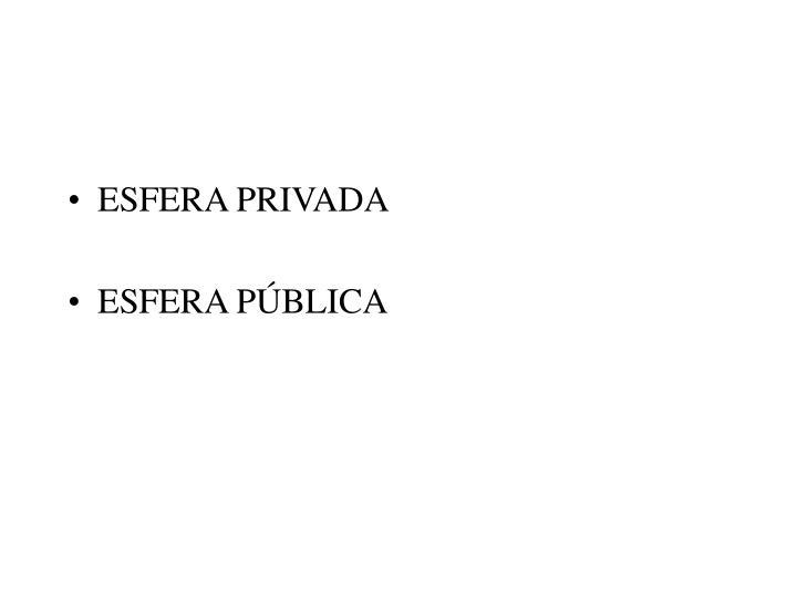 ESFERA PRIVADA