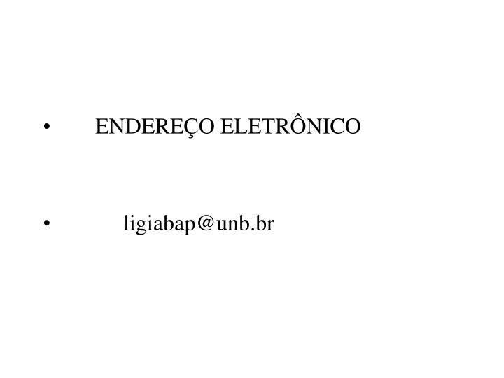 ENDEREÇO ELETRÔNICO