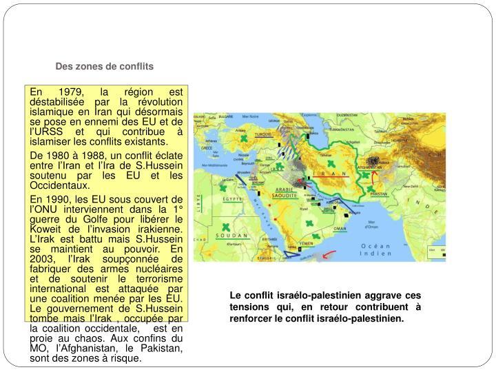 Des zones de conflits