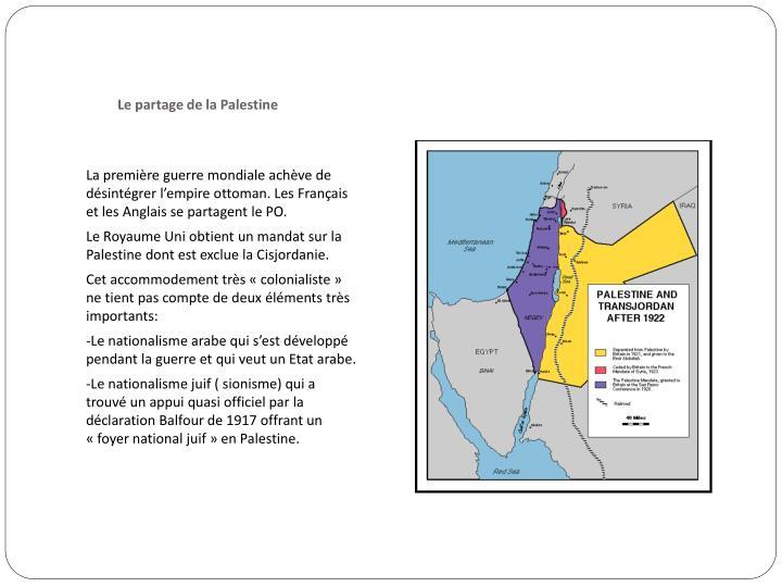 Le partage de la Palestine