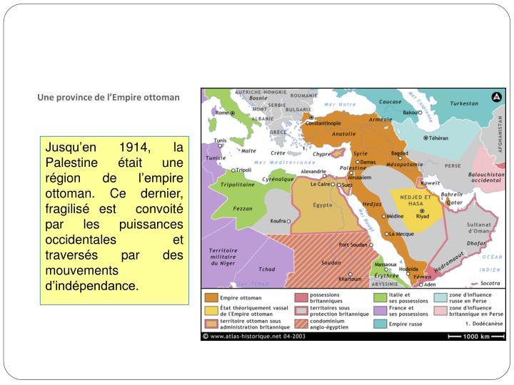 Une province de l'Empire ottoman