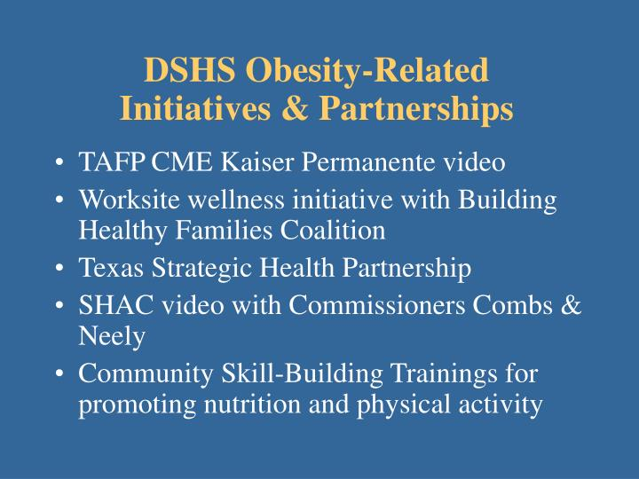 DSHS Obesity-Related