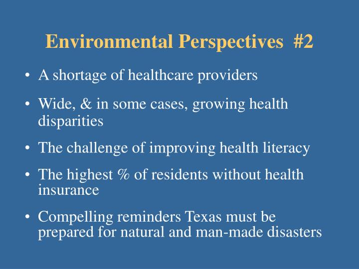 Environmental perspectives 2