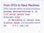 from cfg s to stack machines