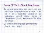 from cfg s to stack machines1